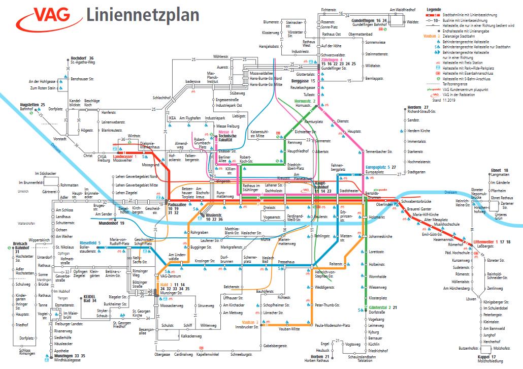 VAG 2020 Netzplan Übersicht